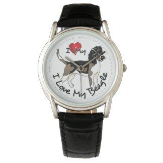 I Love My Beagle Dog Wristwatch