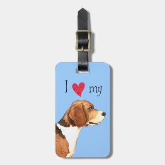 I Love my Beagle Luggage Tag