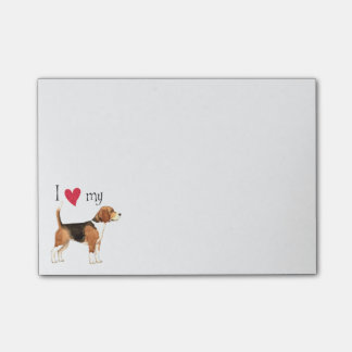 I Love my Beagle Post-it Notes