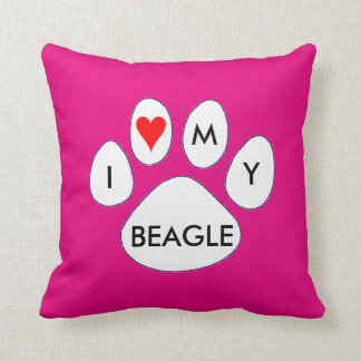 I LOVE MY BEAGLE SQUARE THROW CUSHION