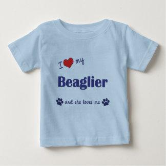 I Love My Beaglier (Female Dog) Baby T-Shirt