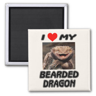 I LOVE MY BEARDED DRAGON - ADD YOUR OWN PHOTO MAGNET