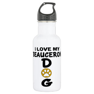 I Love My Beauceron Dog Designs 532 Ml Water Bottle