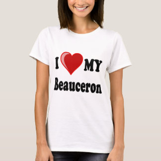 I Love My Beauceron Dog T-Shirt