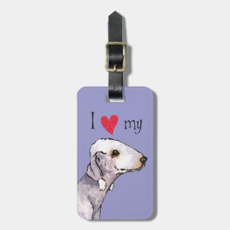 I Love my Bedlinton Terrier Luggage Tag