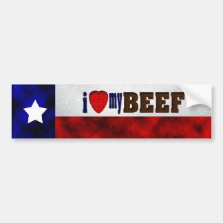 I Love My Beef Bumper Sticker