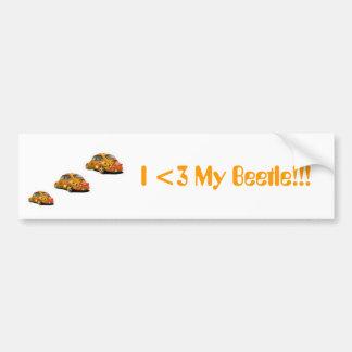 I love my beetle bumper sticker