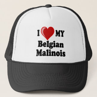 I Love My Belgian Malinois Dog Trucker Hat