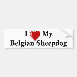 I Love My Belgian Sheepdog Dog Bumper Sticker