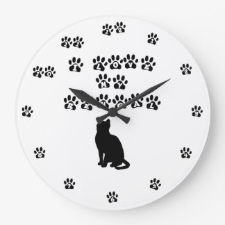 I Love My Bengal Black Text Large Clock