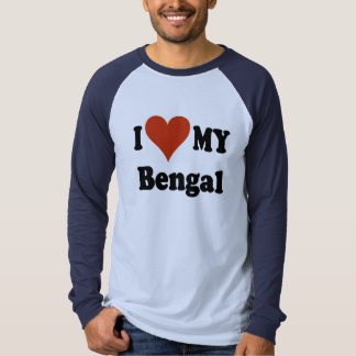 I Love My Bengal Cat Gifts and Apparel Tshirts