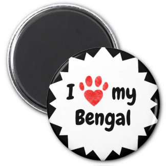 I Love My Bengal Cat Magnet