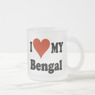 I Love My Bengal Frosted Mug