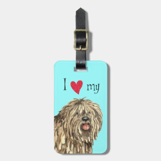 I Love my Bergamasco Luggage Tag