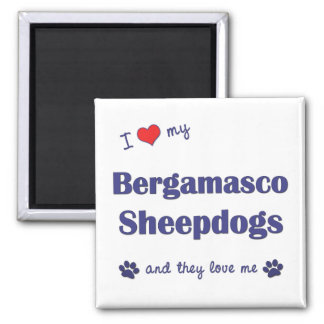 I Love My Bergamasco Sheepdogs (Multiple Dogs) Magnet