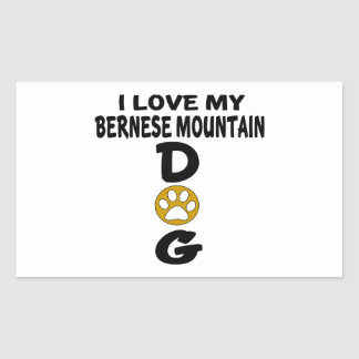 I Love My Bernese Mountain Dog Dog Designs