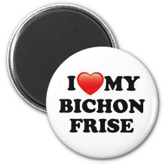 I LOVE MY BICHON FRISE 2 INCH ROUND MAGNET
