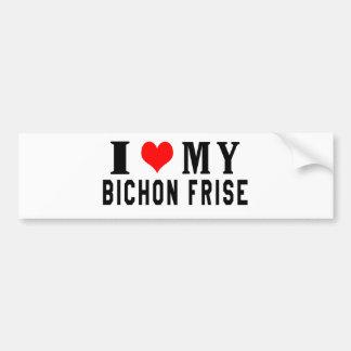 I Love My Bichon Frise Bumper Sticker