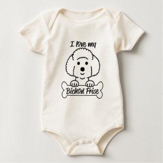 I Love My Bichon Frise Casual Apparel Baby Bodysuit
