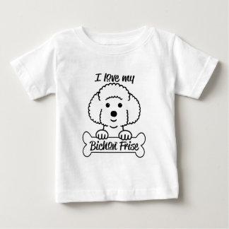 I Love My Bichon Frise Casual Apparel Baby T-Shirt
