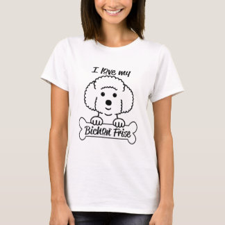 I Love My Bichon Frise Casual Apparel T-Shirt