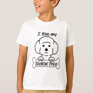 I Love My Bichon Frise Casual Apparel T-Shirt