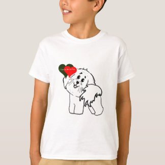 I love my Bichon Frise Dog accessories T-Shirt