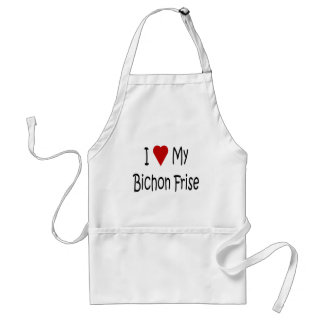 I Love My Bichon Frise Dog Lover Gifts Standard Apron