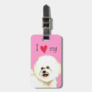 I Love my Bichon Frise Luggage Tag