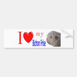 I love my Bichon Frise Puppy Bumper Sticker