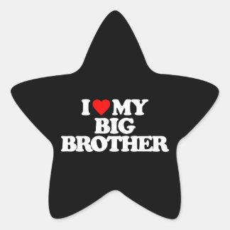 I LOVE MY BIG BROTHER STAR STICKER
