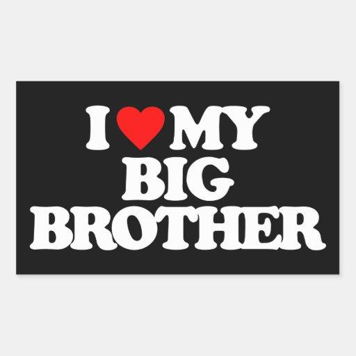 I LOVE MY BIG BROTHER RECTANGULAR STICKERS