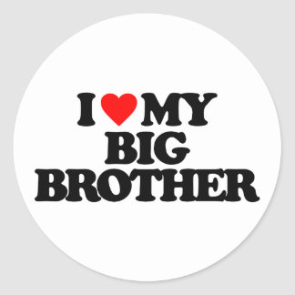 I LOVE MY BIG BROTHER STICKERS