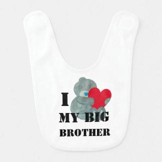 I love My big Brother Teddy bear Love Bib