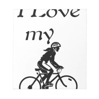 I Love My Bike Notepad