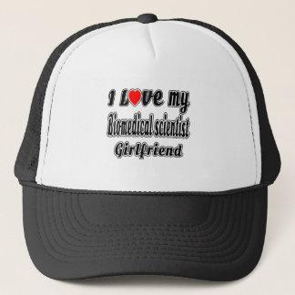 I Love My Biomedical scientist Girlfriend Trucker Hat