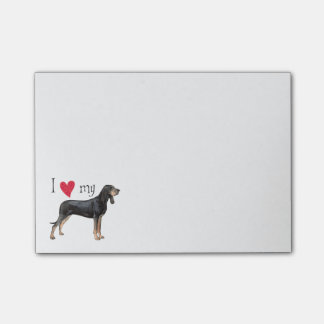 I Love my Black and Tan Coonhound Sticky Note