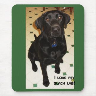 I love my black lab mouse pad