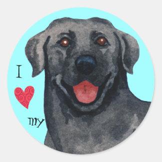 I Love my Black  Lab Round Sticker