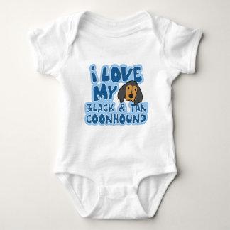 I Love My Black & Tan Coonhound Baby Creeper
