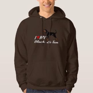 I love my black & tan coonhound hoodie shirt