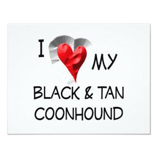 "I Love My Black & Tan Coonhound 4.25"" X 5.5"" Invitation Card"
