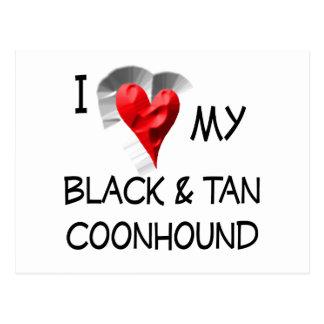 I Love My Black & Tan Coonhound Postcard
