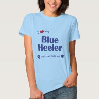 I Love My Blue Heeler (Female Dog) T-shirt