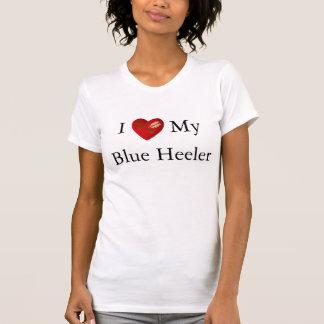I Love My Blue Heeler Heart white arrow Tee Shirts