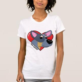 I Love my Blue Heeler Ladies T-Shirt