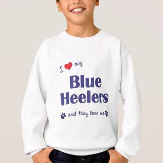 I Love My Blue Heelers (Multiple Dogs) Sweatshirt