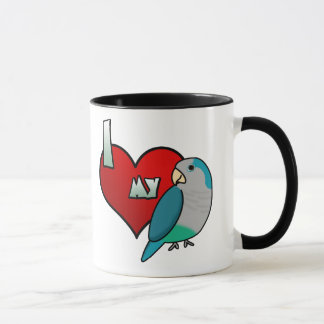 I Love my Blue Quaker Parakeet Mug
