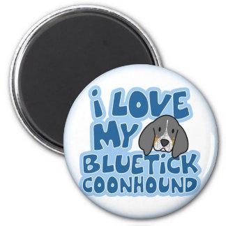 I Love My Bluetick Coonhound Magnet