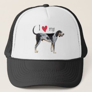 I Love my Bluetick Coonhound Trucker Hat